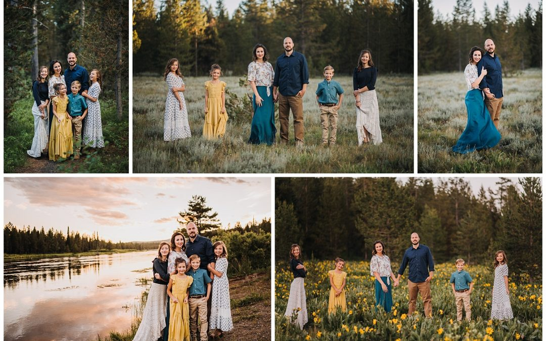 Island Park Idaho Family Portrait Session